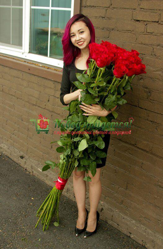 Купить метровые розы в москве