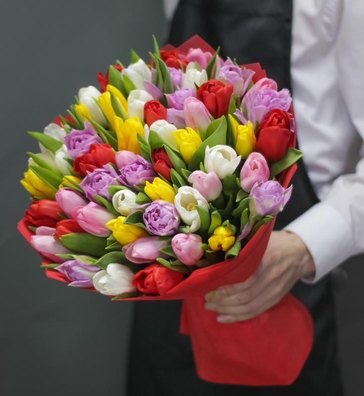 тюльпаны фото букеты в газете словам